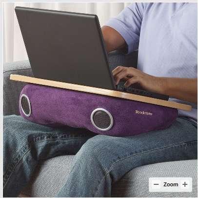 Speaker Laptop Cushions Brookstone Laptop Desks