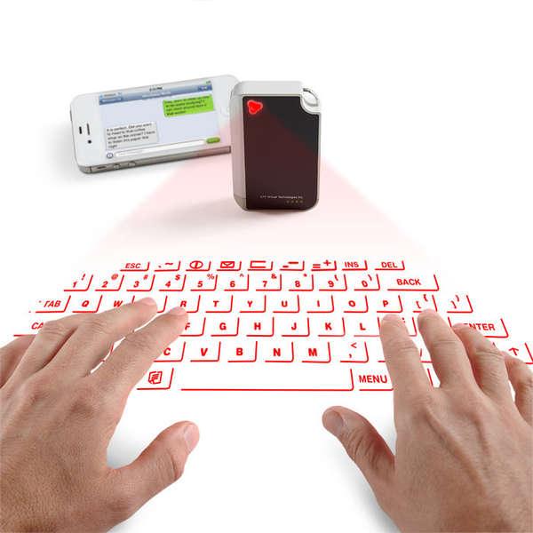 Projected Key Ring Keyboards
