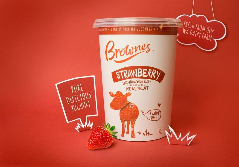 Fruity Natural Yogurt Branding