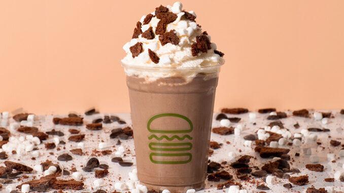 Frozen Brownie-Topped Milkshakes