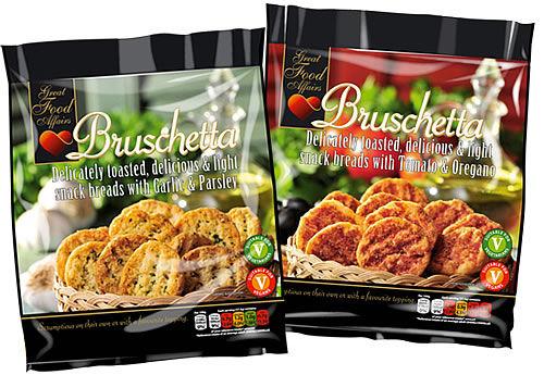 Pre-Seasoned Bruschetta Snacks