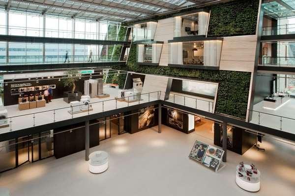 Angled Atrium Workplaces