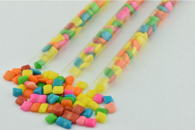 Cylindrical Bubble Gum Tubes