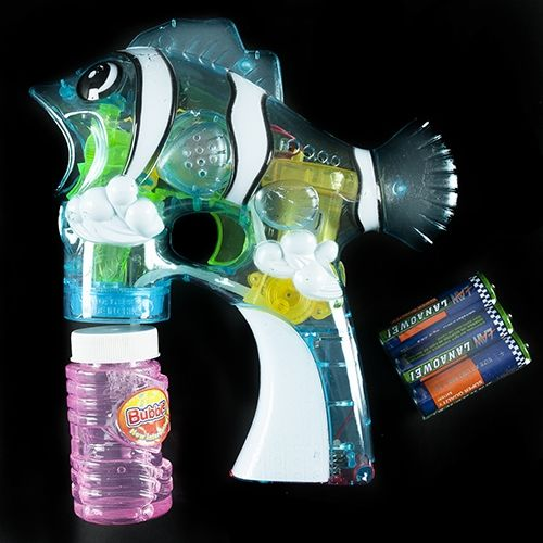 Aquatic Bubble-Blowing Guns