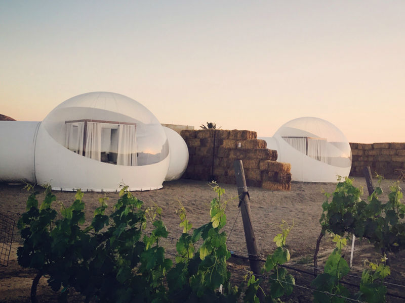Glamorous Outdoor Bubble Hotels