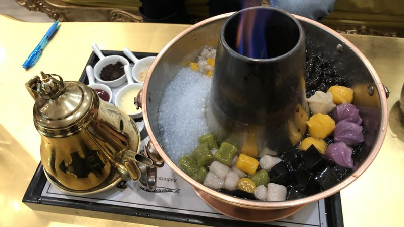 Bubble Tea Hot Pot Desserts