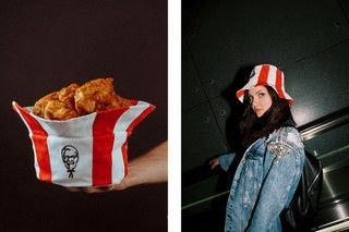 Multipurpose Bucket Hats - The KFC Russia x Mam Cupy Bucket Hat Doubles as a Chicken Container (TrendHunter.com)