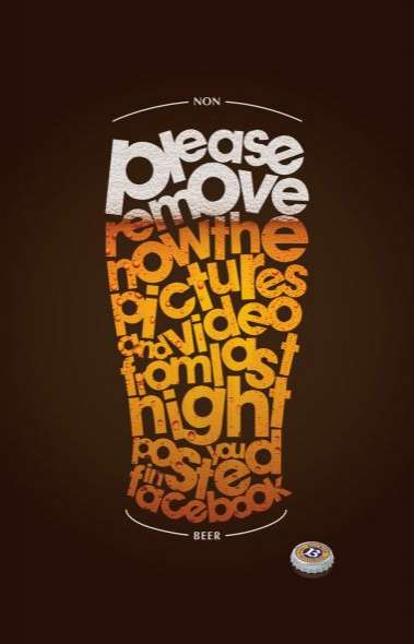 Typographic Beer Campaigns