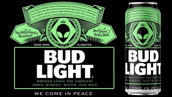 Humorous Alien-Inspired Beer Announcements