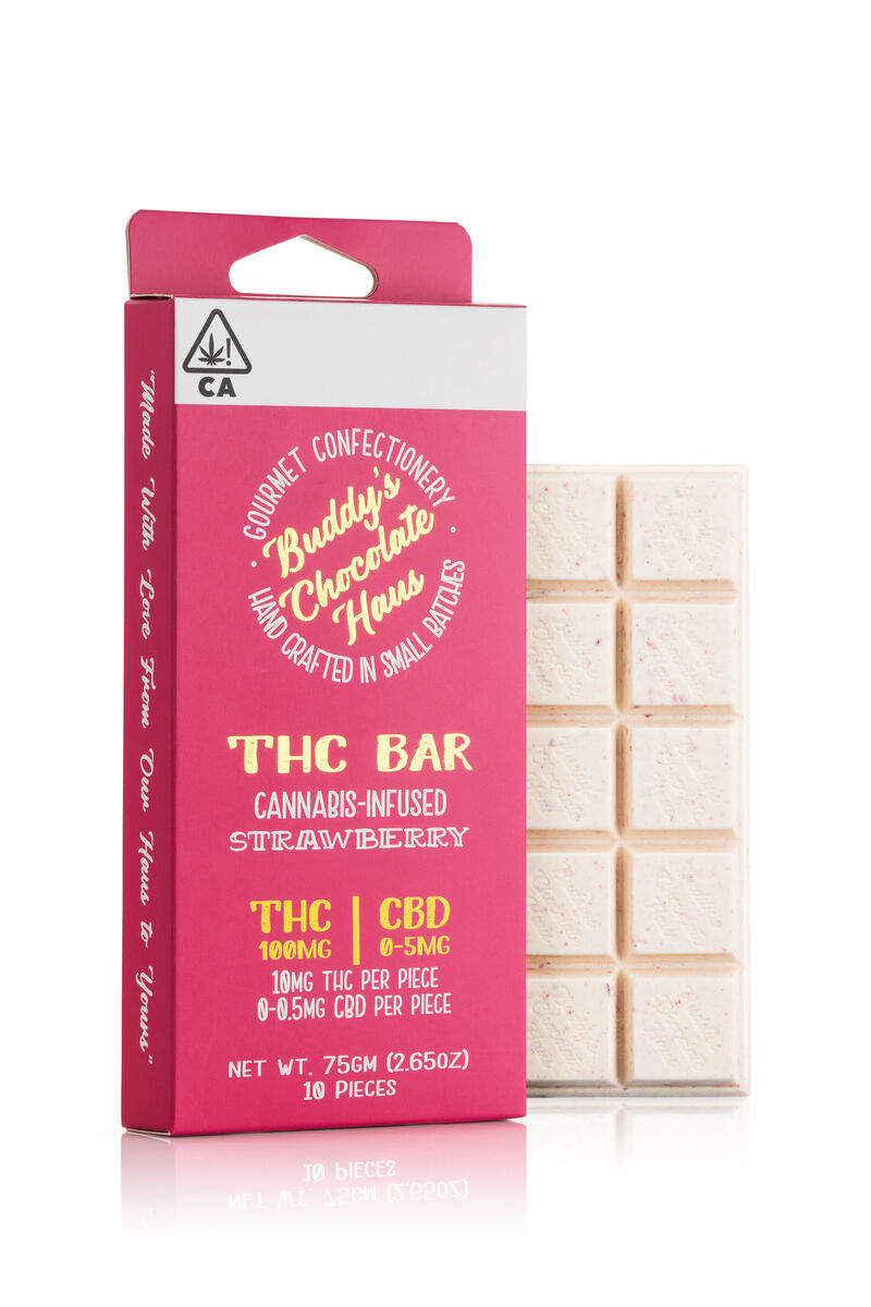 THC-Infused White Chocolate Bars