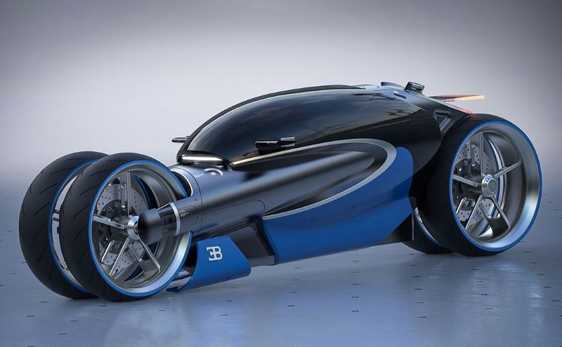 Futuristic Driver-Encapsulating Motorcycles