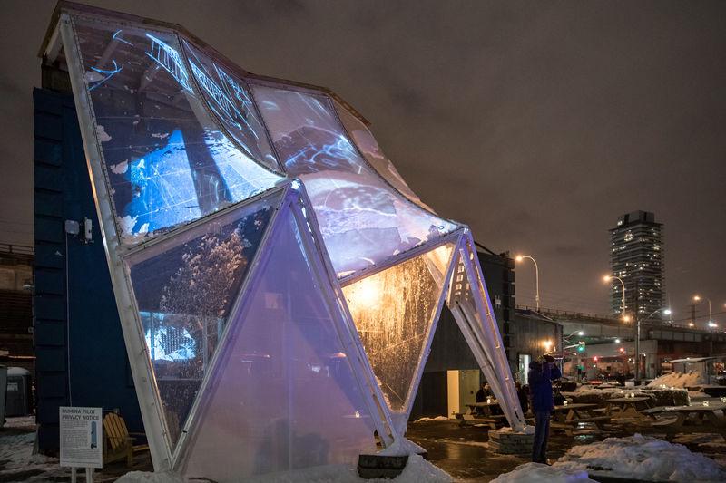 Hexagonal Building Raincoat Prototypes Building Raincoat