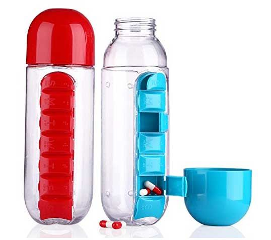 Pill-Holding Water Bottles