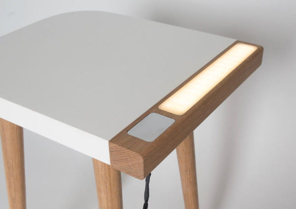 Dual Purpose Bedside Tables Built In Lamp