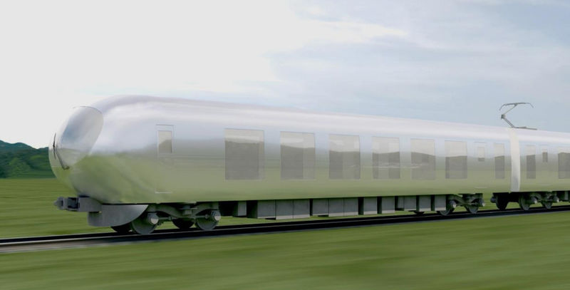 Nature-Blending Bullet Trains