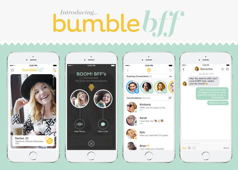 dating apps like tinder and bumble friends app online