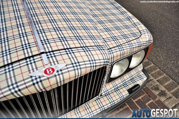 fashionably plaid vehicles   burberry clad bentleys