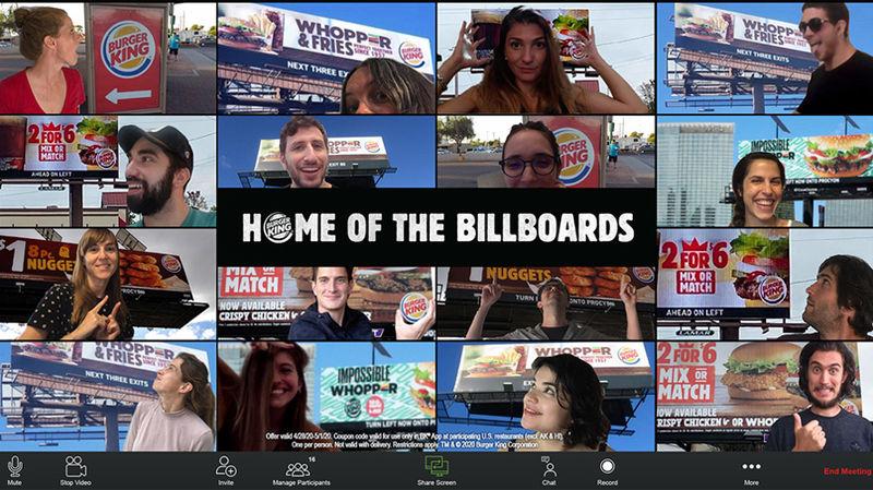 At-Home Burger Billboard Promotions