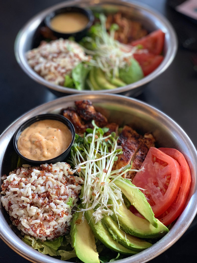 CBD-Infused Burger Bowls