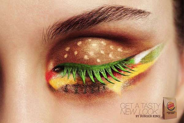 Hamburger Eyeshadow Adverts The Netherlands Burger King