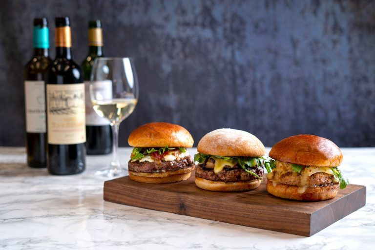 French Wine-Paired Burgers