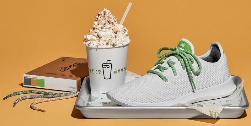 Sustainable Burger-Themed Sneakers
