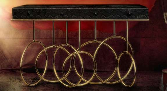 Bold Brass Ring Tables