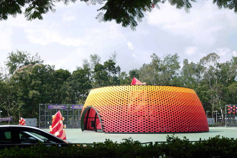 Recycled Plastic Bottle Pavilions