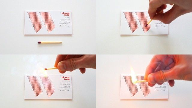 Fire-Starting Business Cards