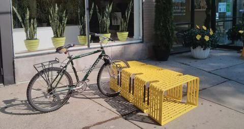 Sittable Bicycle Storage