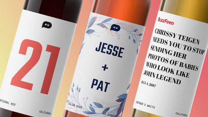 Headline-Labeled Wine Bottles