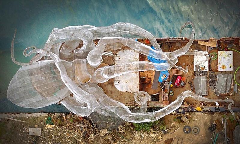 Sunken Ship Art Installations