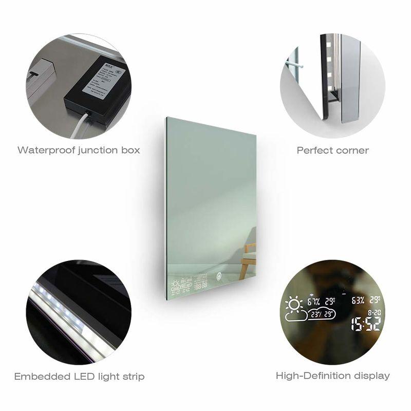 Smart Touchscreen Bathroom Mirrors