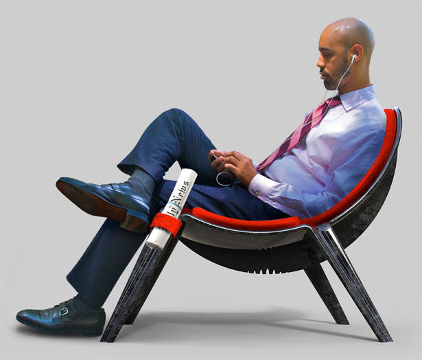 Conceptual Contoured Lounge Chairs