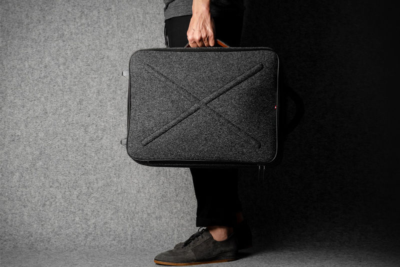 Felted Wool-Covered Suitcases