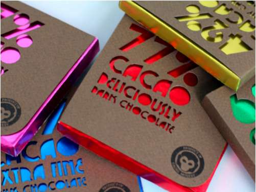 Colorful Cutout Candy Branding