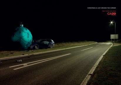 Ornament-Crashing Car Ads