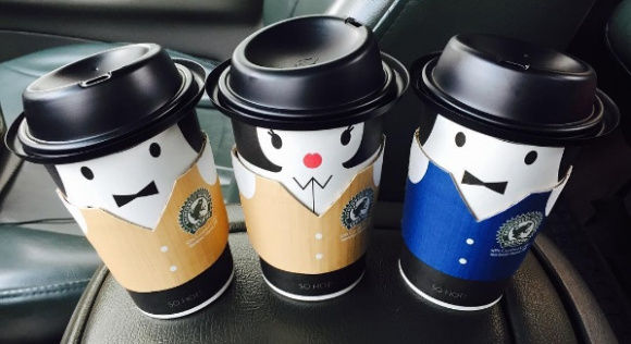 Dressed-Up Coffee Cups