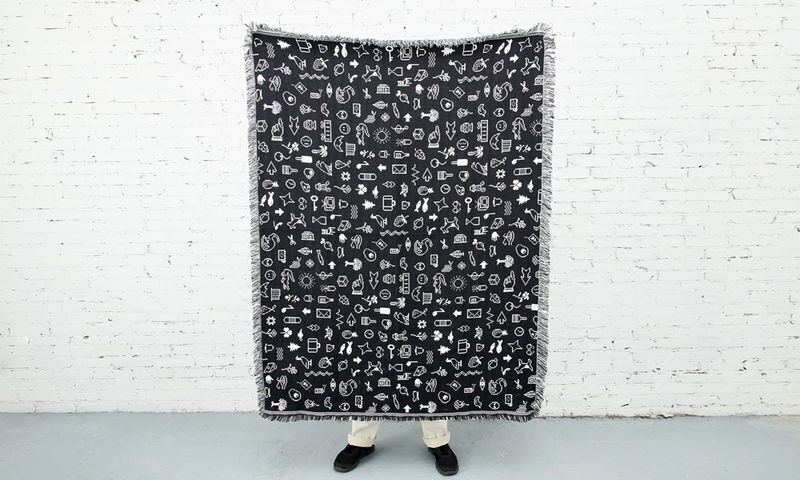 Retro Digital Typeface Blankets