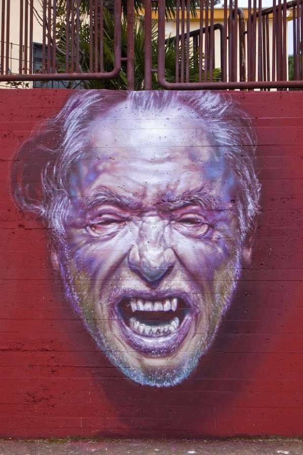 Hyperrealistic Mural Portraiture
