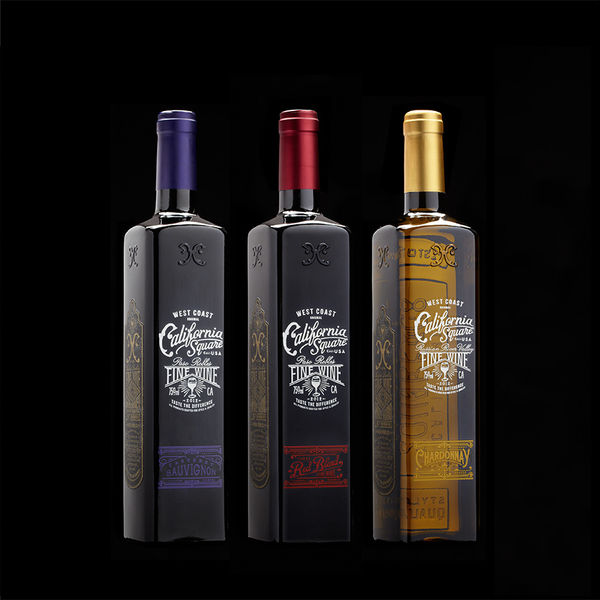 Retro Square Wine Bottles