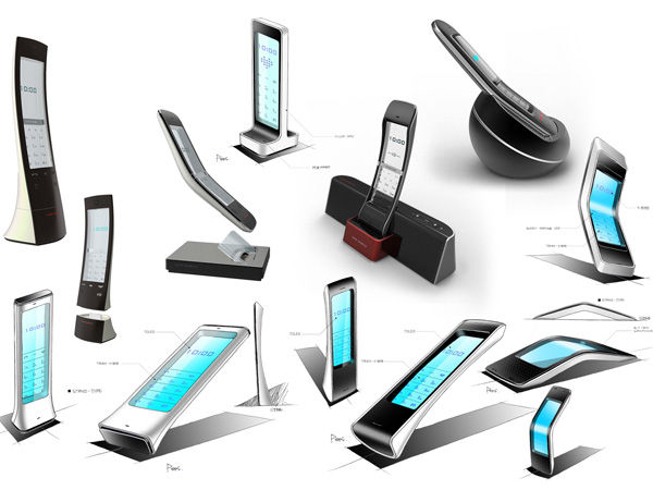Transparent Desktop Telephones