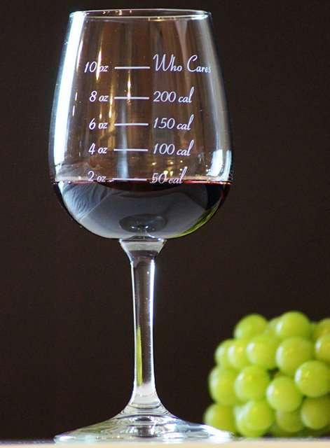 Waist Watching Wine Glasses Caloric Cuvee Calorie