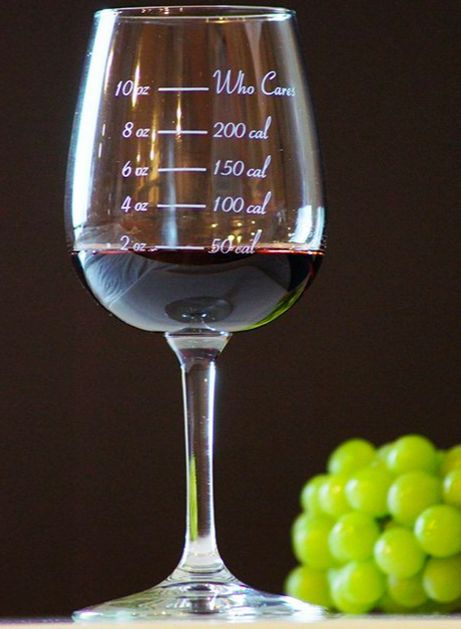 Calorie-Counting Wine Glasses