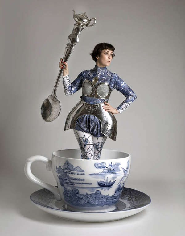 Oversized Tea Set Photography