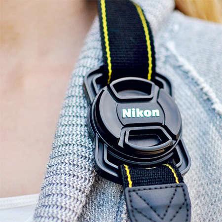 Camera Cap-Securing Straps