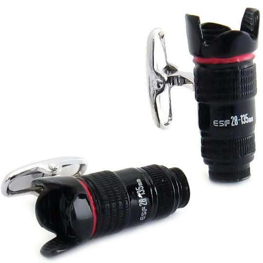 Classy Camera Lens Cufflinks
