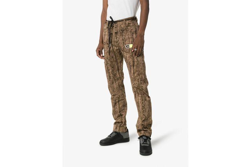 Tree Camo-Inspired Sweat Pants