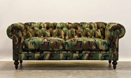 Camouflaged Couches : camo furniture