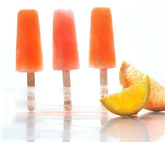 Boozy Citrus Ice Pops